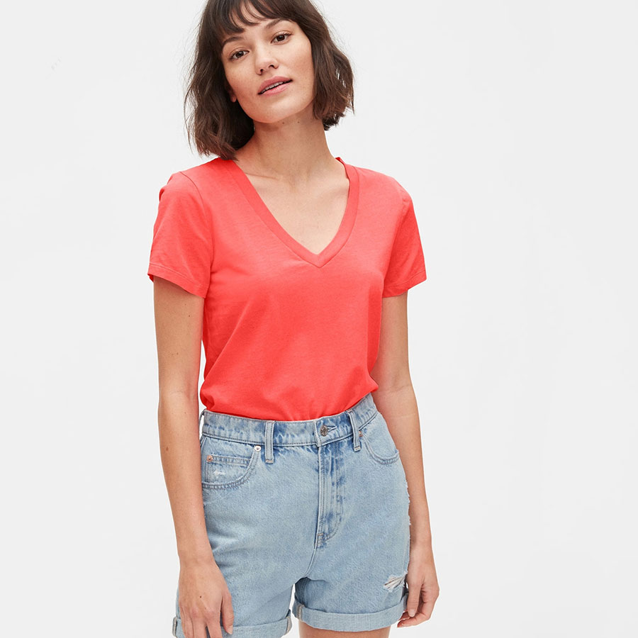 GAP Textil Ss Knits Neon Coral Flame 231887-554