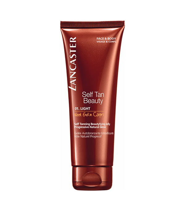 Self Tan. LANCASTER Self Tanning Beautifying Jelly for face and body Week End in Capri 125ml