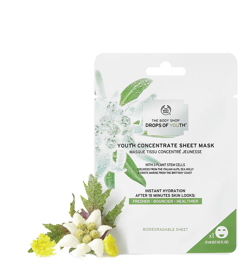 Drops of Youth. THE BODY SHOP Sheet Mask Doy A0X 21ml
