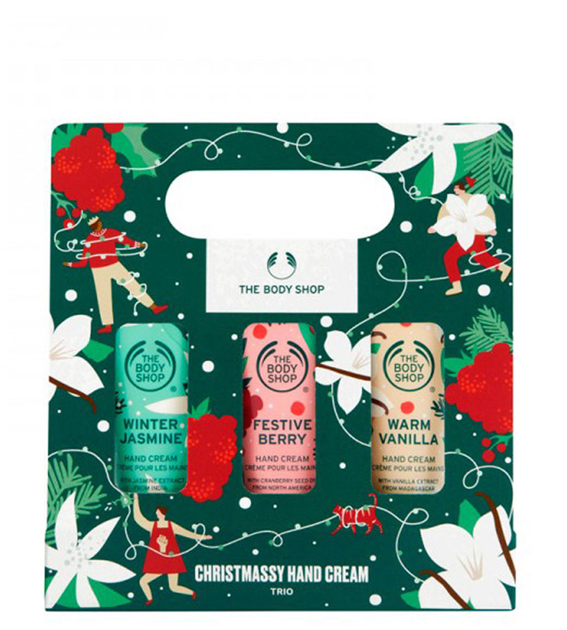 Regalos. THE BODY SHOP CHRISTMASSY HAND CREAM TRIO 0