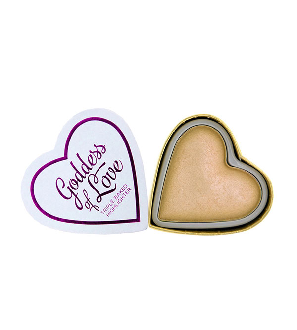 Blushing Hearts Highlighter Golden Godde Blushing Hearts I HEART MAKEUP