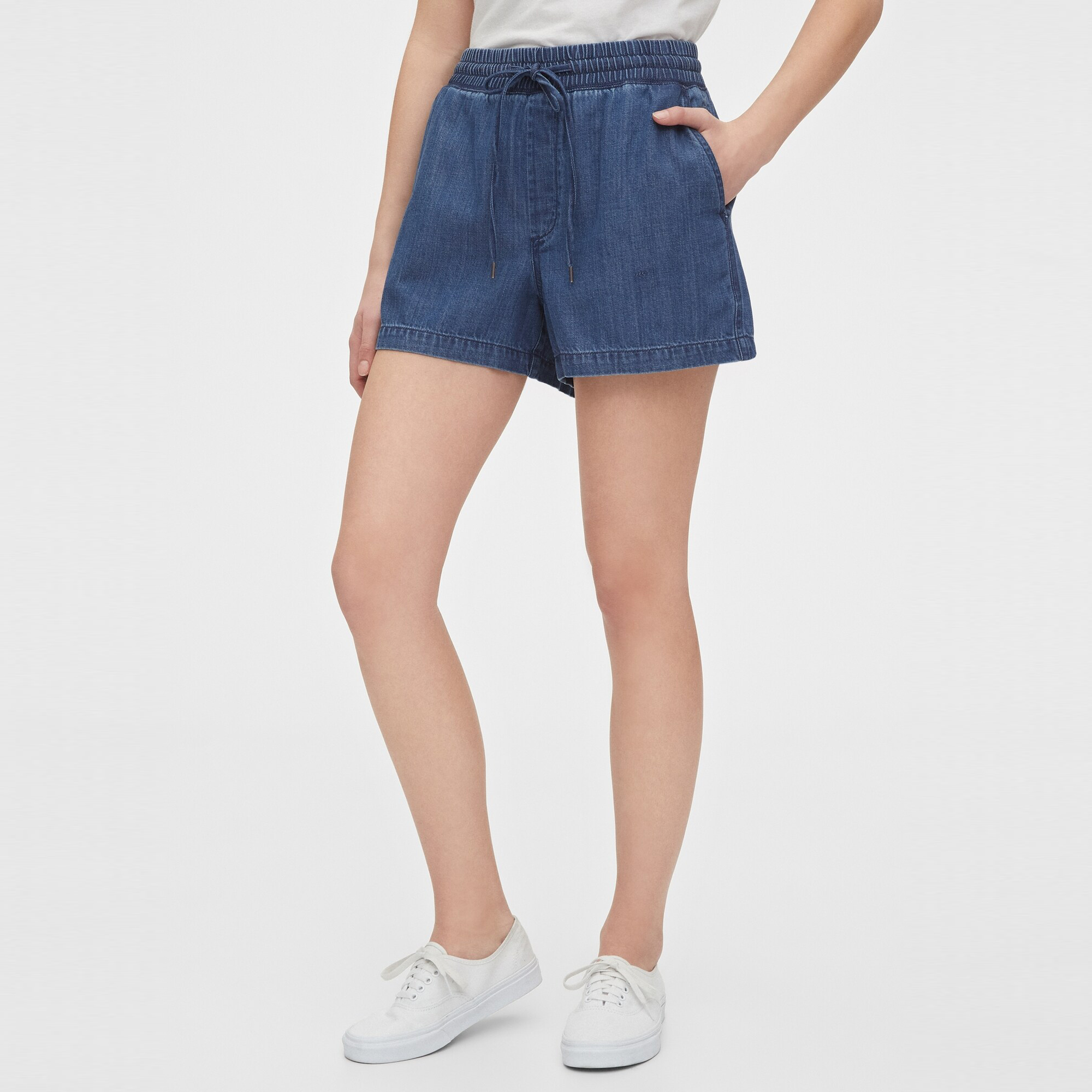 GAP Textil Shorts Indigo Twill Shorts - Medium Indigo 543325-827