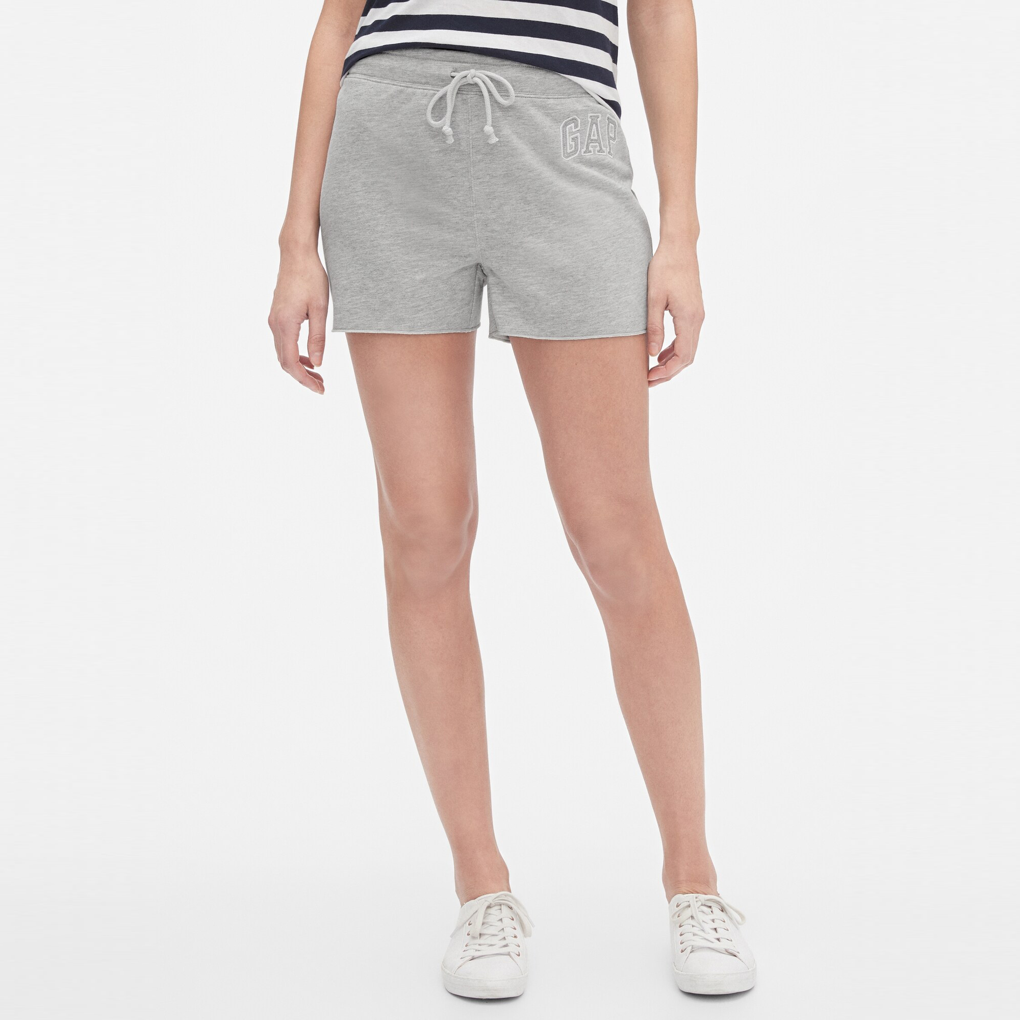 GAP Textil Shorts Gap Logo Shorts - Light Heather Grey B08 548311-235
