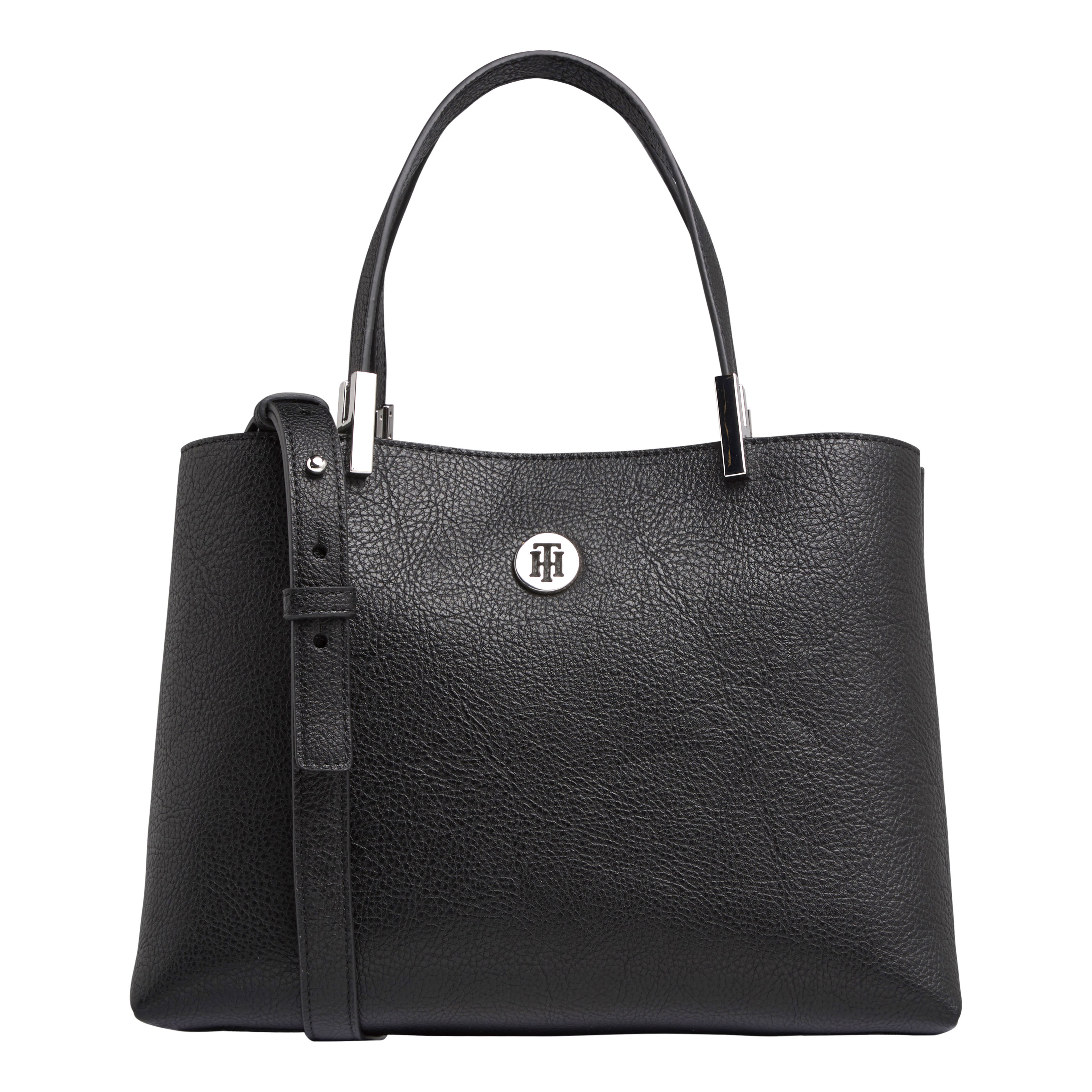TOMMY HILFIGER Marroquinería Satchel Black AW0AW07685-BDS