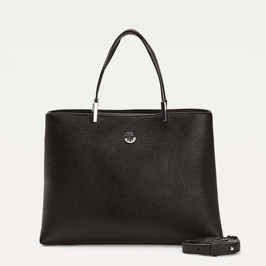 TOMMY HILFIGER Marroquinería Satchel Black AW0AW07968-BDS