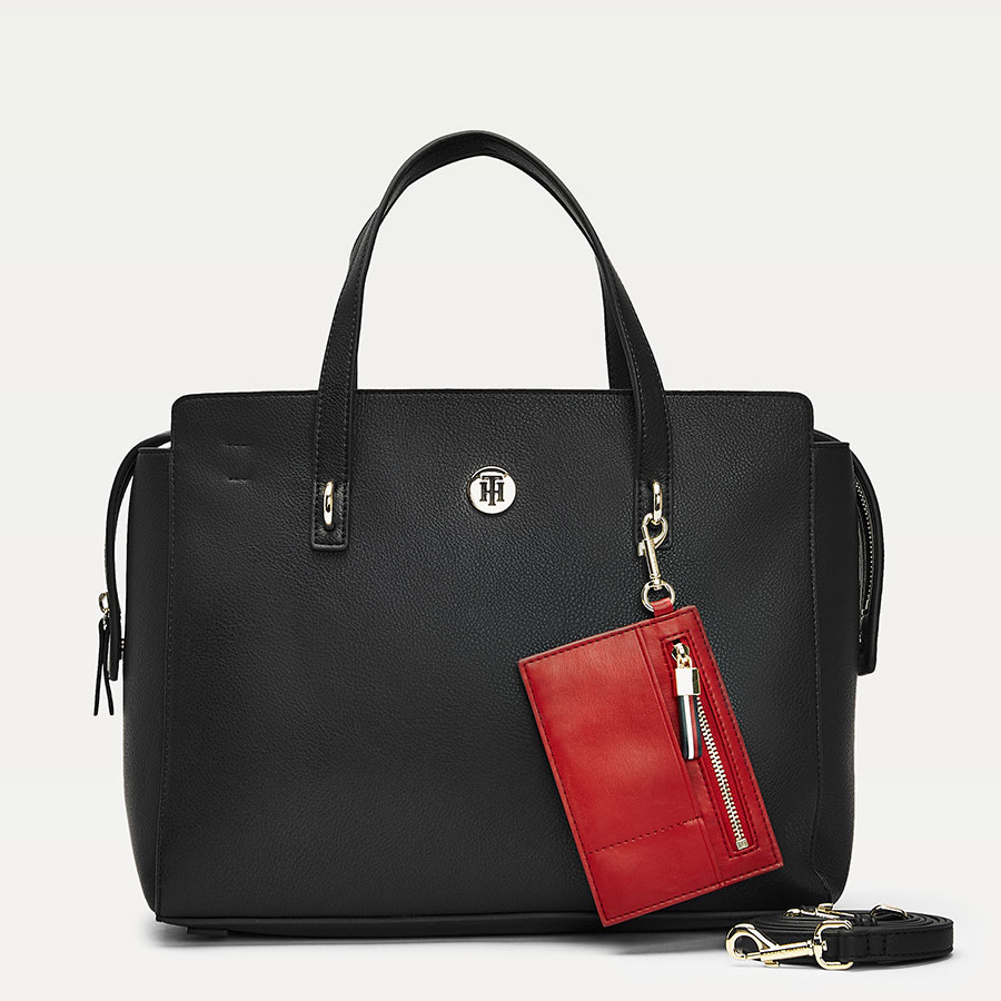 TOMMY HILFIGER Marroquinería Satchel Black AW0AW07985-BDS