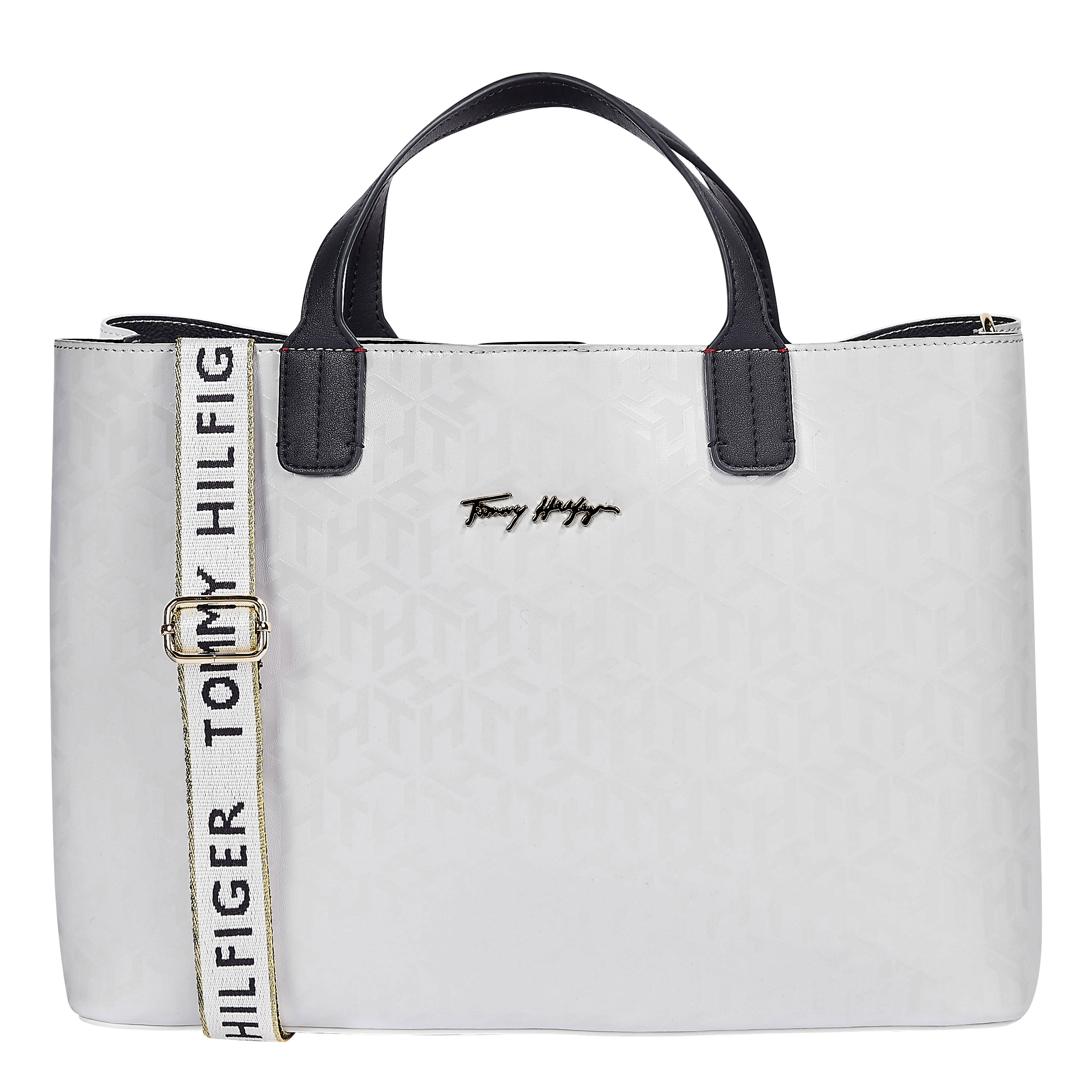 TOMMY HILFIGER Marroquinería Satchel Bright White Mono AW0AW09957-YAF