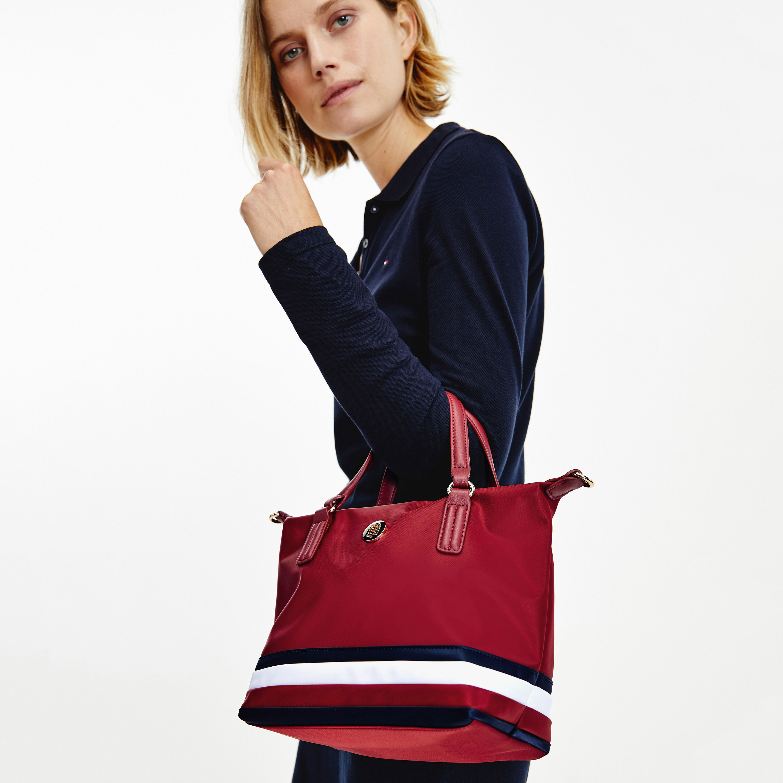 TOMMY HILFIGER Marroquinería Bolso Poppy Small Tote Corp AW0AW10444-XIT