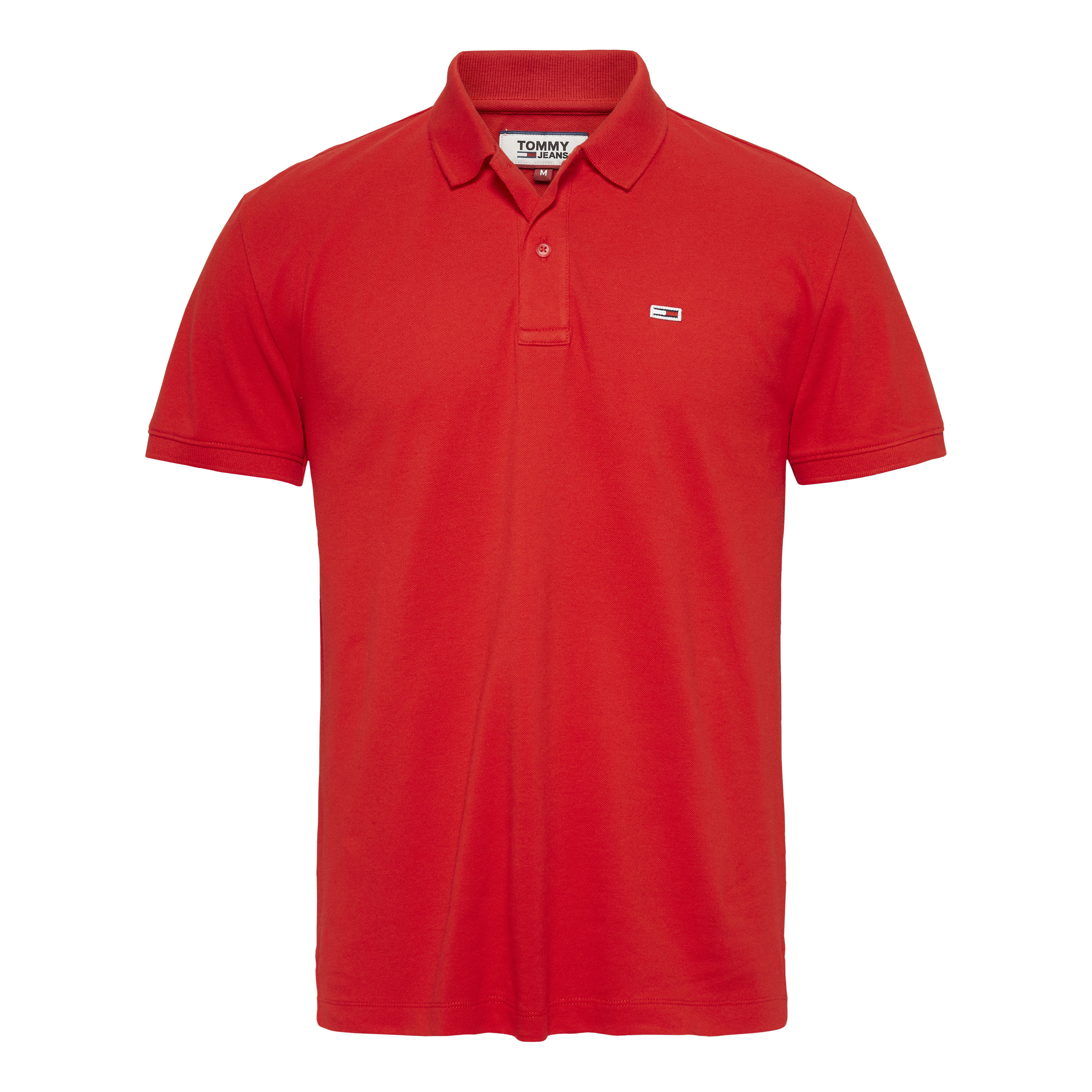 TOMMY JEANS Textil Polo Racing Red DM0DM07196-XA9