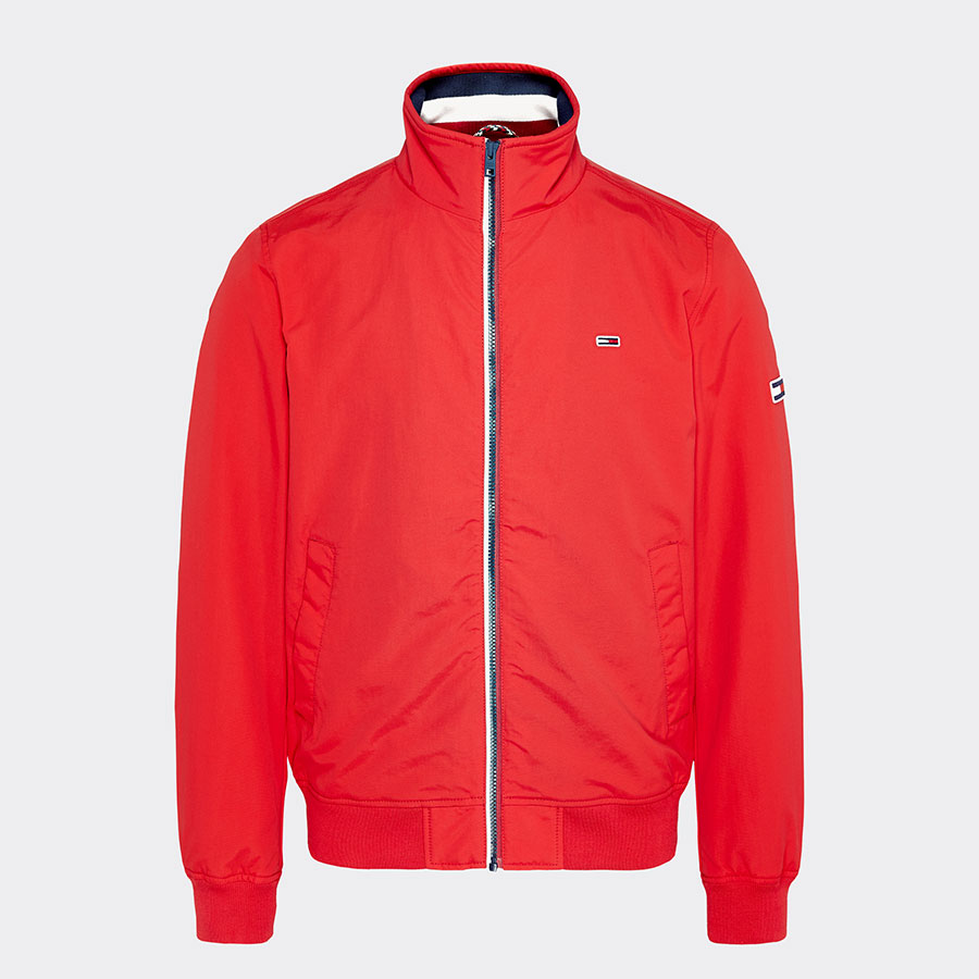 TOMMY JEANS Textil Chaqueta Racing Red DM0DM07366-XA9