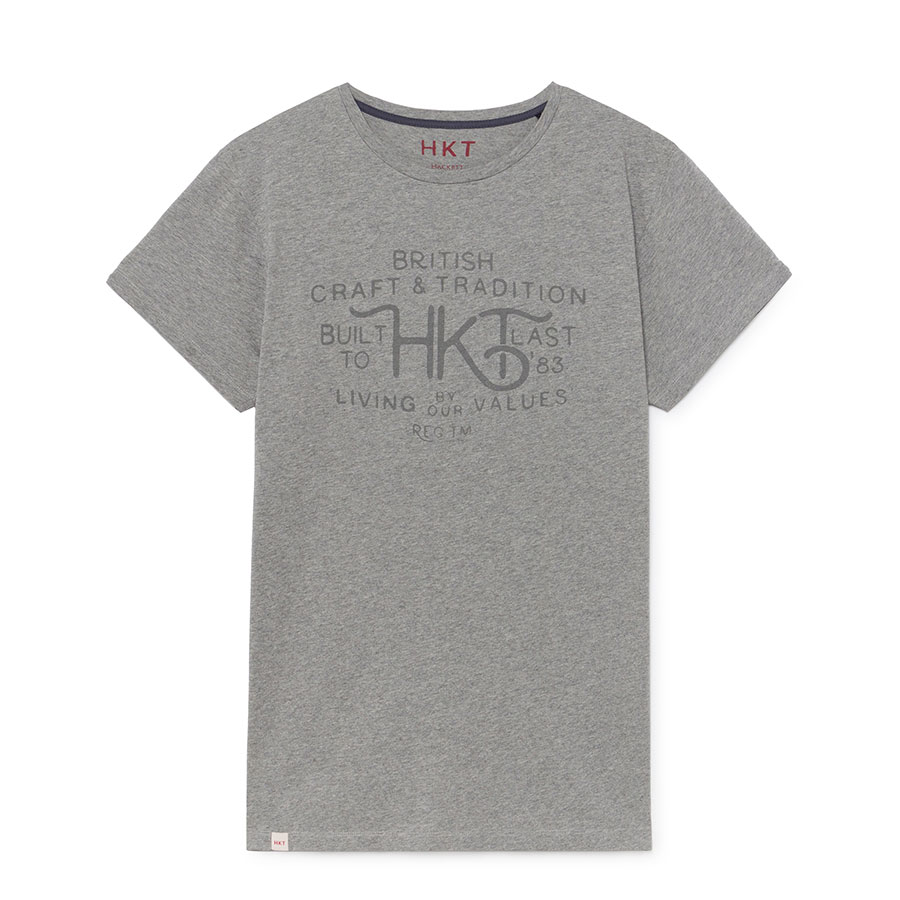 HACKETT Textil Camiseta Light Grey HM500488-913