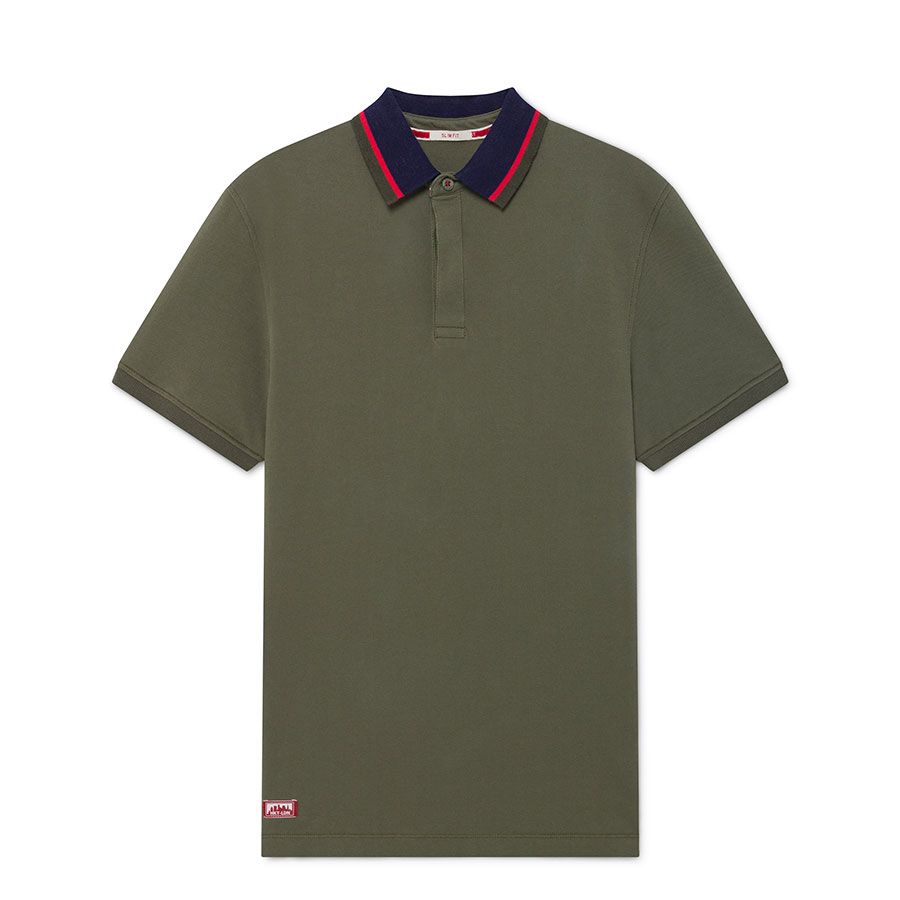 HACKETT Textil Polo Dark Khaki HM562731-785