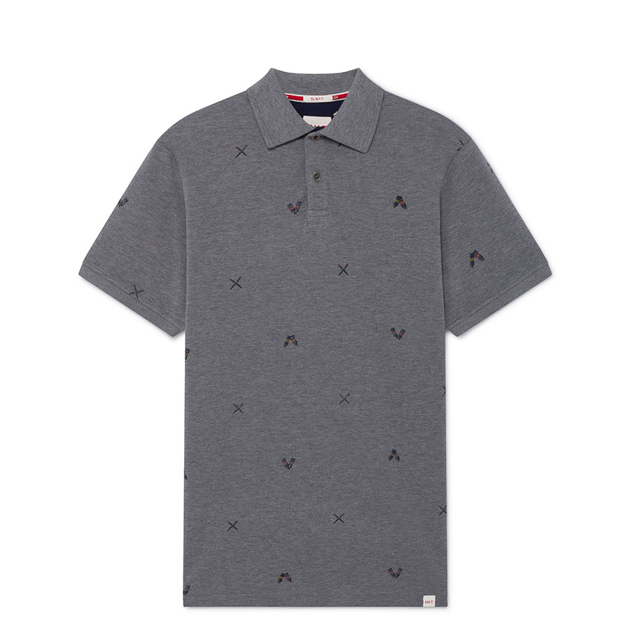 HACKETT Textil Polo Light Grey HM562733-913