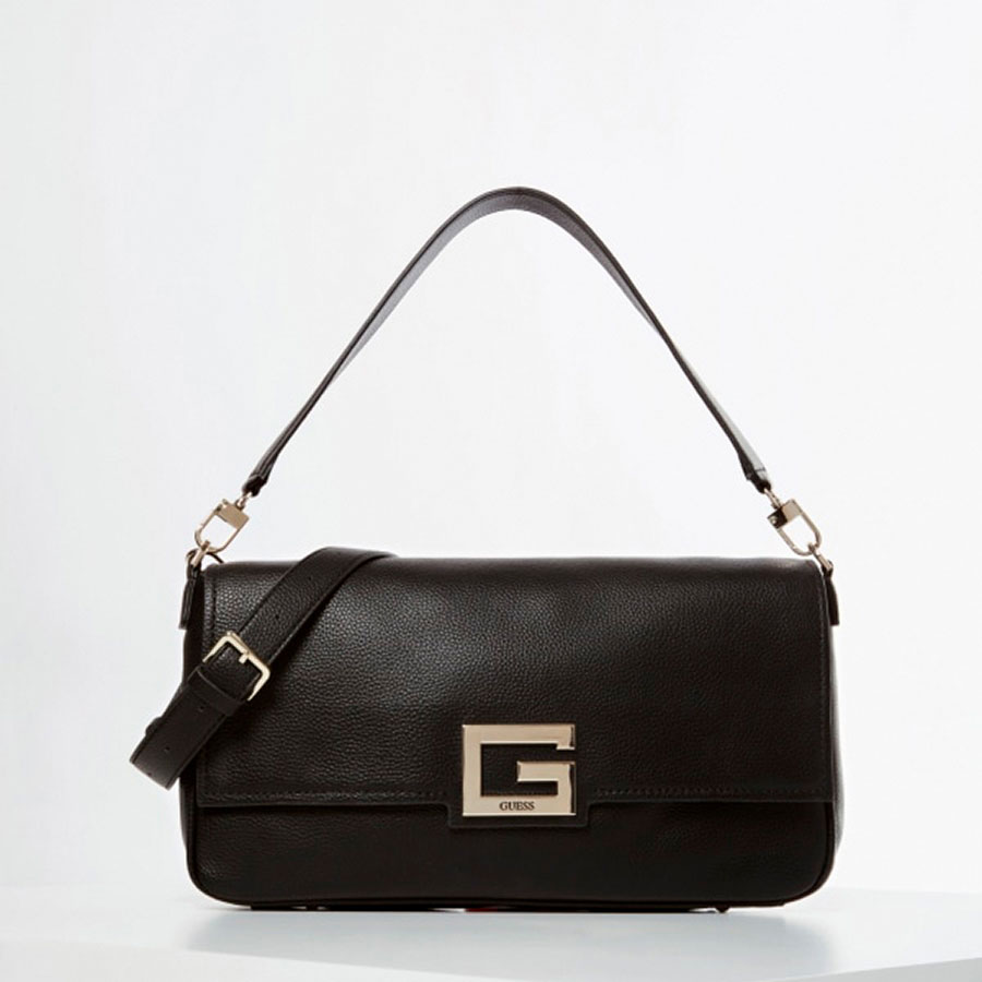 GUESS Marroquinería Satchel color Bla HWJG75 80200-BLA