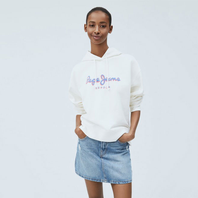 PEPE JEANS Textil Jersey Off White PL581082-803