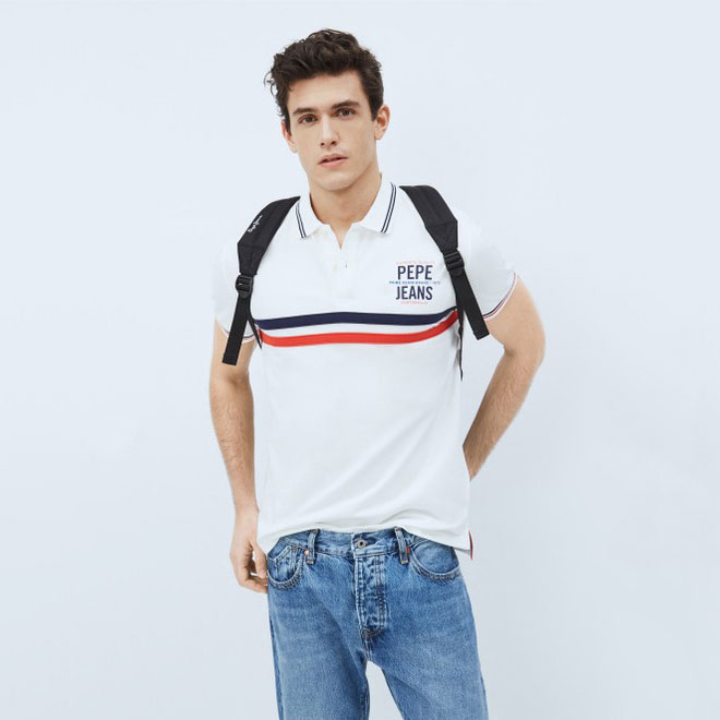 PEPE JEANS Textil Polo Off White PM541663-803