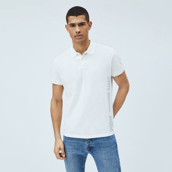 PEPE JEANS Textil Polo Off White PM541674-803