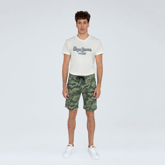 PEPE JEANS Textil Shorts Forest Green PM800850-682
